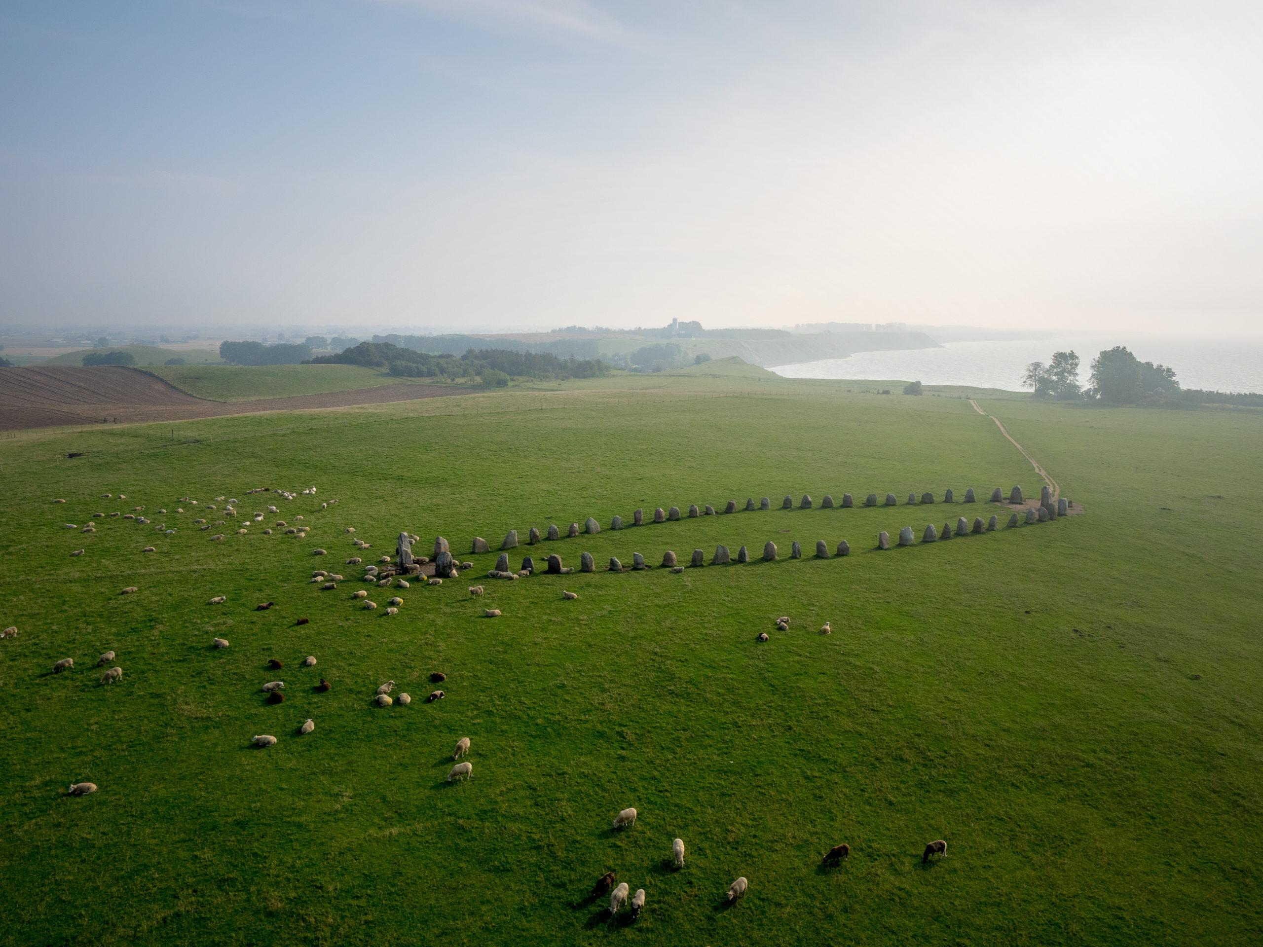 Les pierres d'Ales, vue aérienne