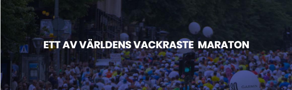 Site Internet du marathon de Stockholm. ©Marathon de Stockholm, 2019
