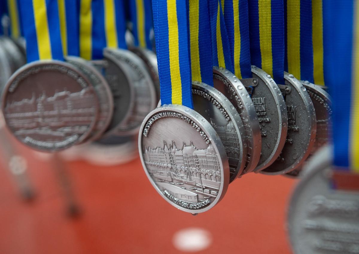 A l'arrivée, la même médaille. ©Marathon de Stockholm, 2019