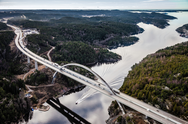 Aerial of Norway-Sweden crossing