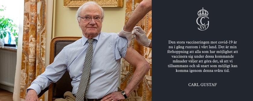 Le roi suédois se fait vacciner