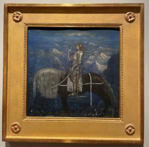 Un chevalier, aquarelle, John Bauer, 1915