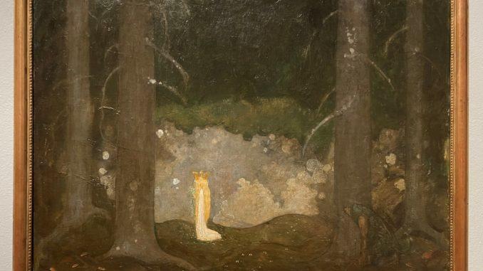 Petite princesse dans la forêt, huile sur toile, John Bauer, 1903