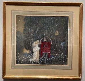 Lena dansant avec le chevalier, aquarelle, John Bauer, 1912