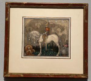 Le garçon qui n'avait jamais peur, aquarelle, John Bauer, 1912