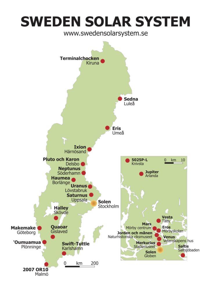 Sweden Solar System map