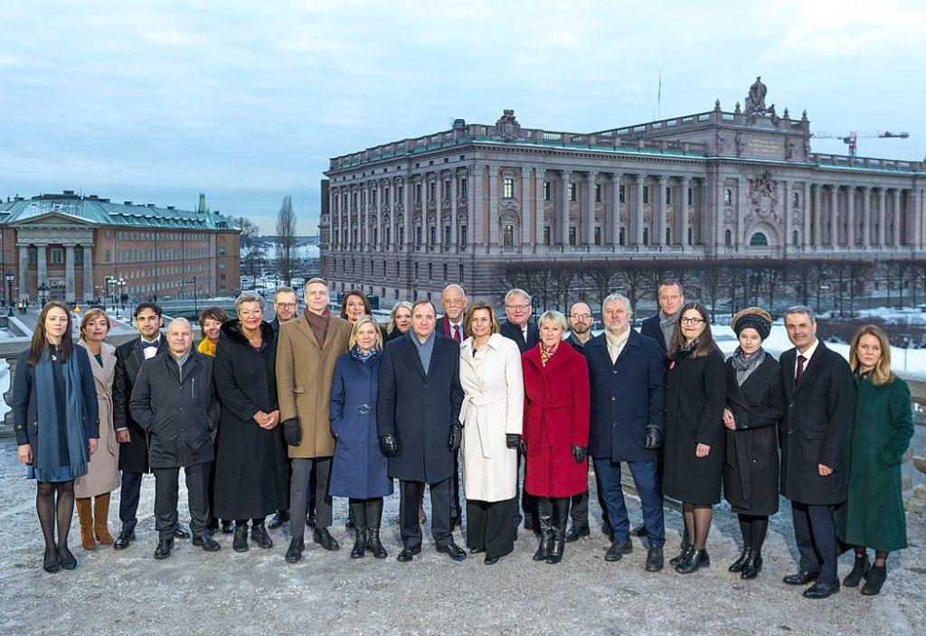 Le gouvernement Löfven II en janvier 2019
